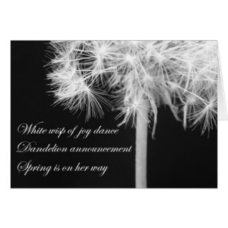 Dandelion Haiku Card