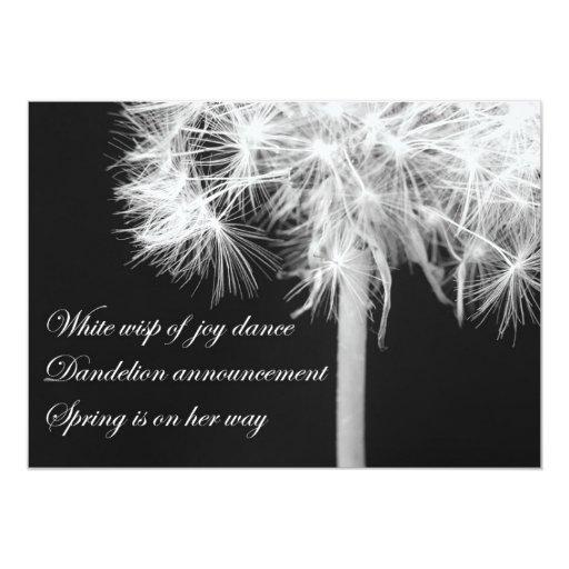 Dandelion Haiku Invitation