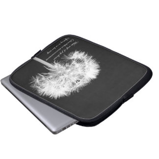 Dandelion Haiku Laptop Sleeve