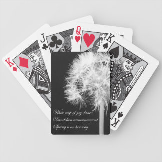 Dandelion Haiku Playing Cards