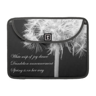Dandelion Haiku Rickshaw Flap Macbook Sleeve