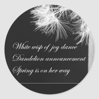 Dandelion Haiku Sticker