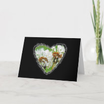 Dandelion Heart Valentine Love Romance Card
