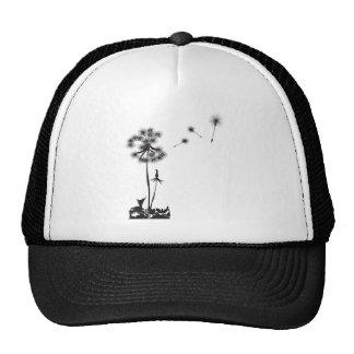 dandelion illustration cap