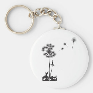 dandelion illustration keychain