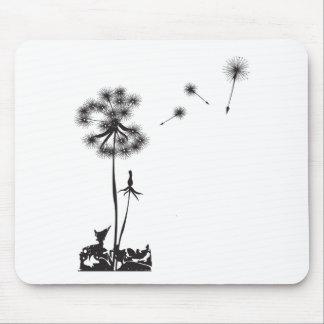 dandelion illustration mouse pad