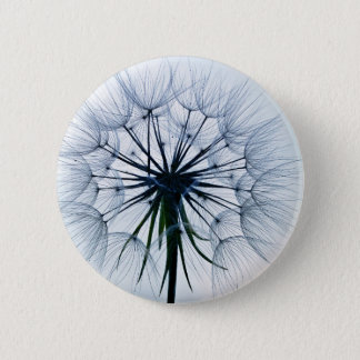 Dandelion In A Blue Sky Background Pinback Button