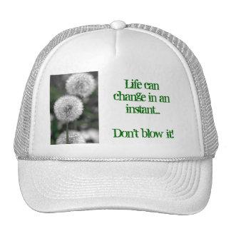 Dandelion in B&W, Life can change in an ins... Trucker Hat