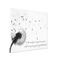 Dandelion Inspiration Canvas Print