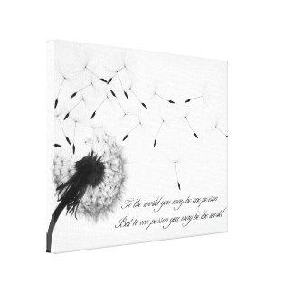 Dandelion Inspiration Canvas Print