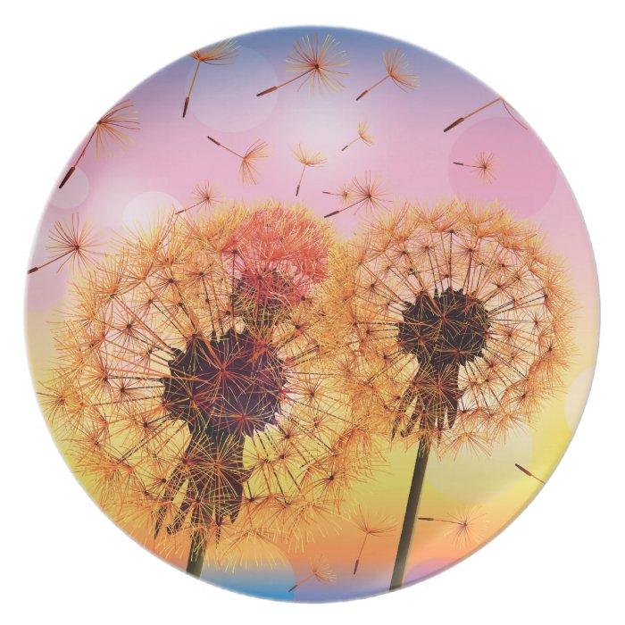 Dandelion Make A Wish Plate
