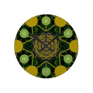 Dandelion Mandala Array Clock