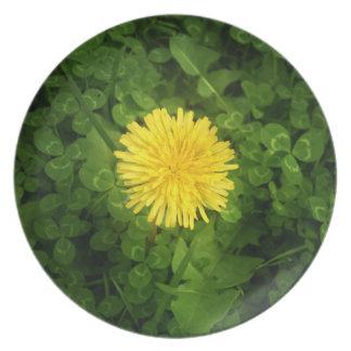 Dandelion Melamine Plate