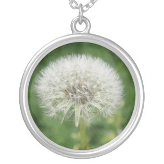 Dandelion Memories Round Pendant Necklace