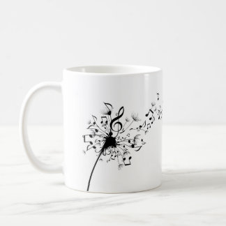 Dandelion Music Symbols Mug