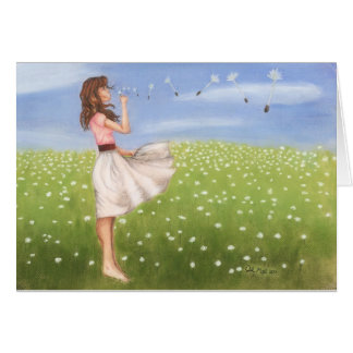 Dandelion notecard-KNOWLEDGE IS POWER Stationery Note Card