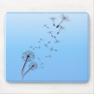 Dandelion on Baby Blue Mouse Pad