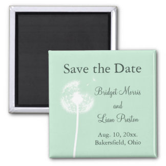 Dandelion on Mint Save the Date Magnet