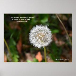 """Dandelion - """"One Uttered Breath"""" - Print"""