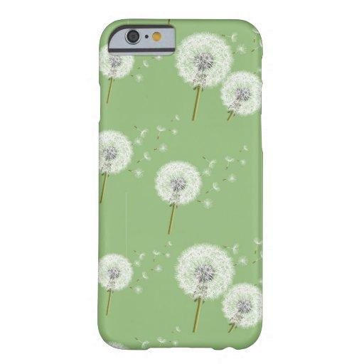 Dandelion Pattern on Green Background iPhone 6 Case