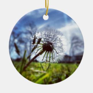 Dandelion (Photography) Ceramic Ornament