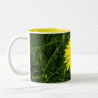Dandelion, Pissenlit Two-Tone Coffee Mug