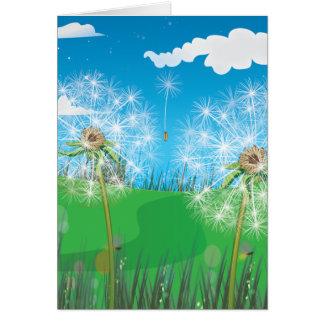 Dandelion plant card