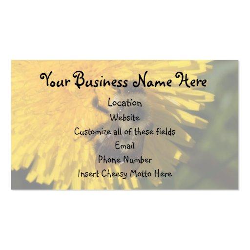 Dandelion Pollenator; Promotional Business Card