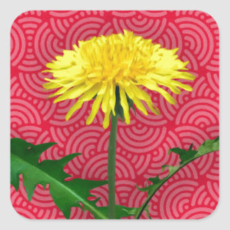 Dandelion Pop Art Square Sticker