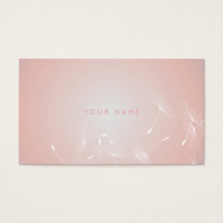 Dandelion Powder Pink Coral Therapist Vip Business Card