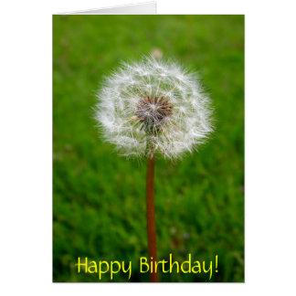 Dandelion Puff, Happy Birthday! Greeting Card