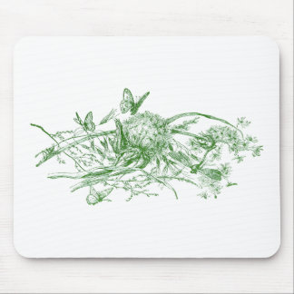 Dandelion Puff with Butterflies Mouse Pad