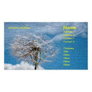 Dandelion relief business card