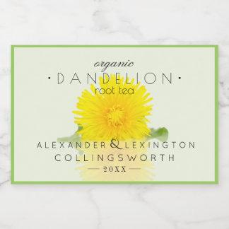 Dandelion Root Tea Homemade Food Label