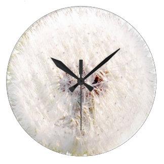 Dandelion seed head clock
