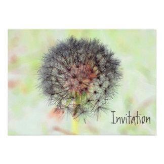 Dandelion Seed Head Invitation Custom Announcement