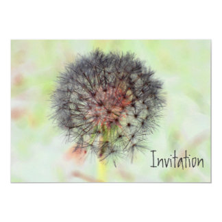 Dandelion Seed Head Invitation