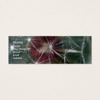 Dandelion Seed Head Mini Business Card