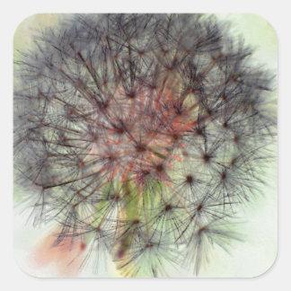 Dandelion Seed Head Square Sticker