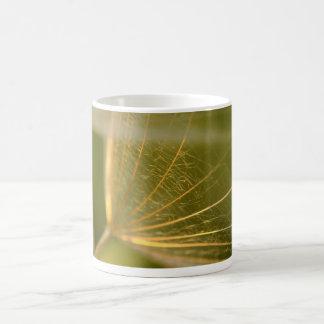 Dandelion seed macrophotography coffee mug