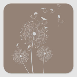 Dandelion Seed Thieves Square Sticker