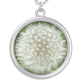 Dandelion Seedhead Silver Plated Necklace