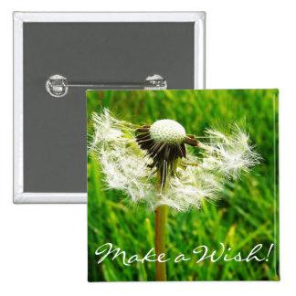 Dandelion Seeds 2 Inch Square Button