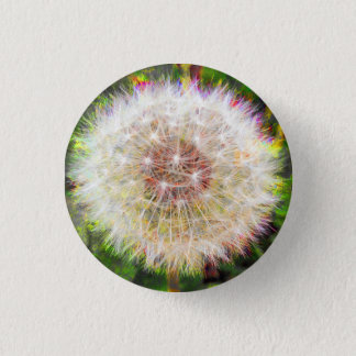 Dandelion Seeds All In A Globe Pinback Button