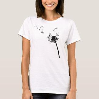 dandelion seeds bloom blossoms simple peace plant T-Shirt