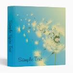 Dandelion Seeds Blowing In The Wind, Sample Spi... 3 Ring Binder