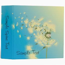 Dandelion Seeds Blowing In The Wind, Sample Spi... Binder