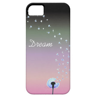 Dandelion Seeds Flying in the Wind - Black Pink iPhone 5 Covers