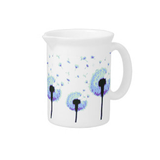 Dandelion Seeds Flying in the Wind Drink Pitcher