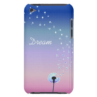Dandelion Seeds Flying in the Wind - Royal Blue iPod Touch Case